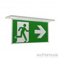 Ansell ARAZLED/LI/3M/DA Razzo LED Emergency Recessed Exit Blade 3hrM DALI 4.5W