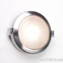 Astro 1039001 Toronto Round Polished Aluminium and Glass Outdoor Wall Light