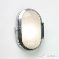 Astro 1039002 Toronto Oval Polished Aluminium and Glass Outdoor Wall Light