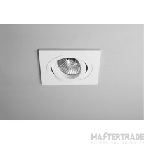 Astro Lighting 1240030 Taro Square Adjustable GU10 Fire Rated Downlight White