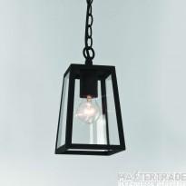 Astro 1306003 Calvi 1 Light Outdoor Pendant Light in Painted Black