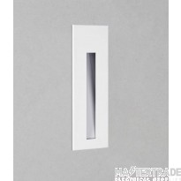 Astro 1212017 Borgo One Light LED Recessed Wall Light In White, 3000K - H: 133mm