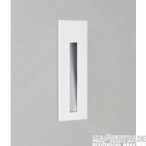 Astro 1212021 Borgo One Light LED Square Recessed Wall Light In White - W: 55mm