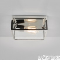 Astro 1353002 Bronte Exterior Ceiling Light In Polished Nickel With Clear Glass