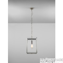 Astro 1095020 Homefield One Light Outdoor Lantern Style Ceiling Pendant Light In Polished Nickel - H: 360mm