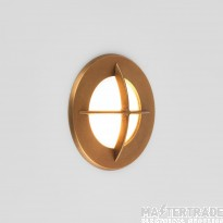 Astro 1379002 Arran Round One Light Outside Wall Light In Antique Brass
