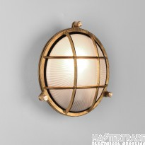 Astro 1376001 Thurso One Light Round Outside Wall/Ceiling Light In Natural Brass