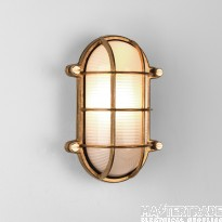 Astro 1376002 Thurso One Light Oval Outside Wall/Ceiling Light In Natural Brass