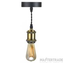 BELL 10302 Retro Vintage Pendant Light - Antique Brass, ES