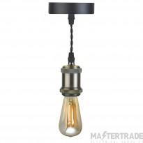 BELL 10303 Retro Vintage Pendant Light -Antique Satin Nickel, ES