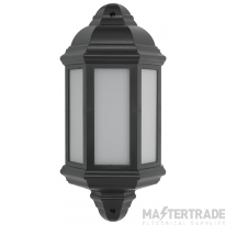BELL 10352 Retro LED Intergrated Half Lantern Black