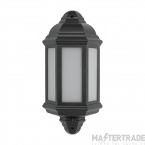 BELL 10353 Retro LED Intergrated Half Lantern Black with PIR