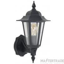 BELL 10358  Full Lantern Wall Light Vintage Black - ES/E27 Lamp Base