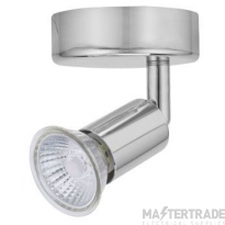 BELL 10370 Luna GU10 Ceiling Spotlight - Single, Chrome