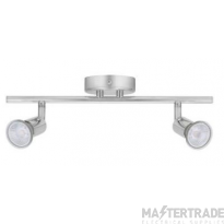 BELL 10371 Luna GU10 Ceiling Spotlight - Twin, Chrome
