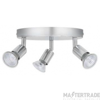 BELL 10372 Luna GU10 Ceiling Spotlight - Triple, Chrome