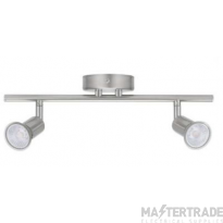 BELL 10375 Luna GU10 Ceiling Spotlight - Twin, Satin