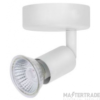 BELL 10378 Luna GU10 Ceiling Spotlight - Single, White