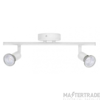 BELL 10379 Luna GU10 Ceiling Spotlight - Twin, White