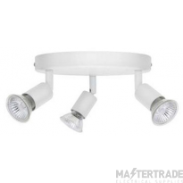 BELL 10380 Luna GU10 Ceiling Spotlight - Triple, White