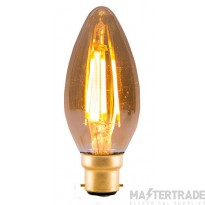 BELL 01430 4W LED Vintage Candle - BC, Amber, 2000K