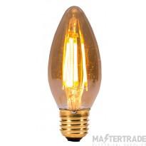 BELL 01432 4W LED Vintage Candle - ES, Amber, 2000K