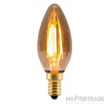 BELL 1433 4W LED Vintage Candle - SES, Amber, 2000K