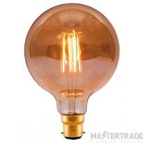BELL 01436 4W LED Vintage 125mm Globe - BC, Amber, 2000K