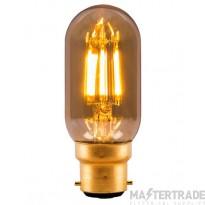 BELL 1438 4W LED Vintage Tubular - BC, Amber, 2000K