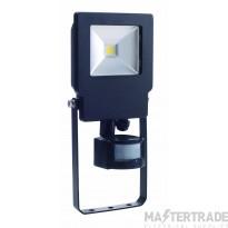 BELL 10W Skyline Slim PIR Sensor Floodlight - 4000K Black 04495