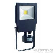 BELL 20W Skyline Slim PIR Sensor Floodlight - 4000K Black 04496