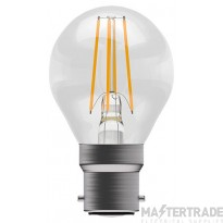 BELL 05030 4W LED Filament Clear Round - BC, 2700K