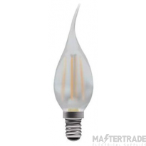 BELL 05034 4W LED Filament Bent Tip Satin Candle Dimmable - SES, 2700K