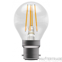 BELL 05310 4W LED Filament Clear Round Dimmable - BC, 2700K
