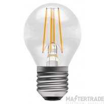 BELL 05316 4W LED Filament Clear Round Dimmable - ES, 2700K