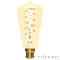BELL 60018 4W LED Vintage Soft Coil Squirrel Cage Dimmable - BC, Amber, 2000K