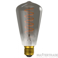 BELL 60028 4W LED Vintage Soft Coil Squirrel Cage Dimmable - ES, Gunmetal, 2000K