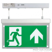 BELL 09009 2.5W Spectrum LED Emergency Exit Blade Surface Suspended Including Up Legend Maintained