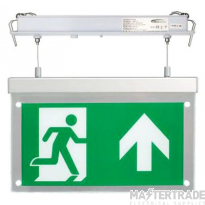 BELL 09010 2.5W Spectrum LED Emergency Exit Blade Recessed Suspended Including Up Legend Maintained