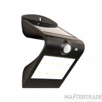 Luceco LEXS30B30 LED Wall Light Solar PIR 1.5W