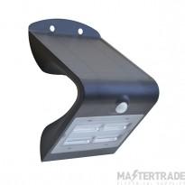 Luceco LEXS40B40 LED Wall Light Solar PIR 3.2W