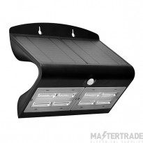 Luceco LEXS80B40 LED Wall Light Solar PIR 6.8W