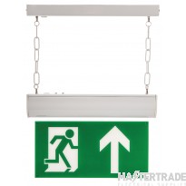 Channel Safety E/CHFO/M3/L/WHST LED Emergency Hanging Exit Blade 3hrM