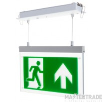Channel E/RZ/M3/LED/R Emergency Exit  Hanging Sign Recessed