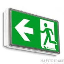 Channel Safety E/STRATOS/M3/2W Stratos LED Emergency Exit Box 3hrM 14xLED