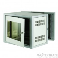 18u 500mm Deep 2 Part Wall Mounted Data Cabinet