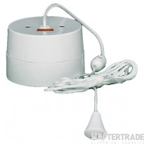 Crabtree White 16A Ceiling Switch 1 Way DP c/w Neon 2163