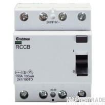 Crabtree Lifestar 100A 100mA RCCB TPN Class AC 241/100TD