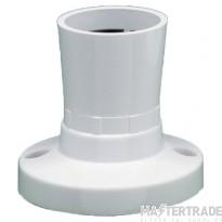 Crabtree Capital White Batten Lampholder BC Straight T2 3410