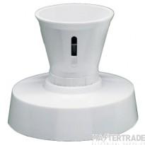 Crabtree Capital White Batten Lampholder BC Straight HO Shield 3422